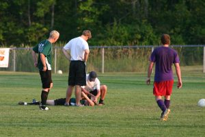 high school soccer player head injury